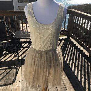 Cream colored Lost dress with shawl